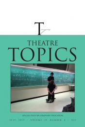 Theatre Topics Special issue on Graduate Education